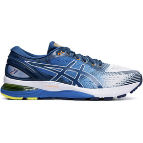 asics Gel-Nimbus 21 Shoes Herren white/lake drive